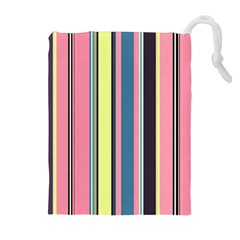 Seamless Colorful Stripes Pattern Background Wallpaper Drawstring Pouches (extra Large)