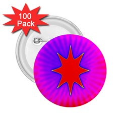 Pink Digital Computer Graphic 2 25  Buttons (100 Pack)