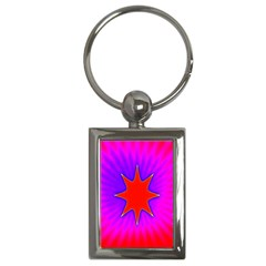 Pink Digital Computer Graphic Key Chains (Rectangle)