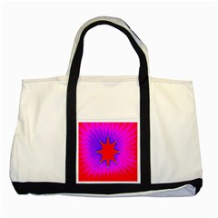 Pink Digital Computer Graphic Two Tone Tote Bag