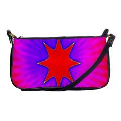 Pink Digital Computer Graphic Shoulder Clutch Bags