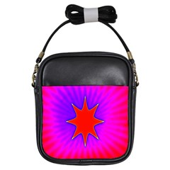 Pink Digital Computer Graphic Girls Sling Bags