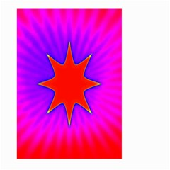 Pink Digital Computer Graphic Large Garden Flag (two Sides)