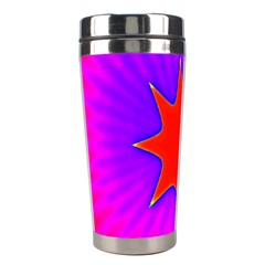 Pink Digital Computer Graphic Stainless Steel Travel Tumblers