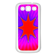 Pink Digital Computer Graphic Samsung Galaxy S3 Back Case (white)