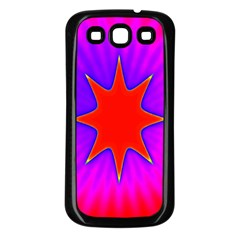 Pink Digital Computer Graphic Samsung Galaxy S3 Back Case (Black)