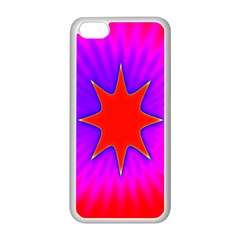 Pink Digital Computer Graphic Apple iPhone 5C Seamless Case (White)