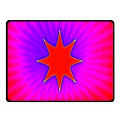 Pink Digital Computer Graphic Double Sided Fleece Blanket (Small)