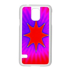 Pink Digital Computer Graphic Samsung Galaxy S5 Case (White)
