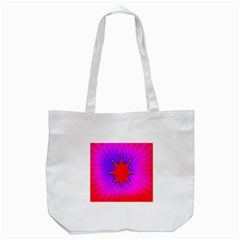 Pink Digital Computer Graphic Tote Bag (White)