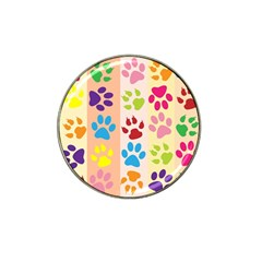Colorful Animal Paw Prints Background Hat Clip Ball Marker (10 Pack)
