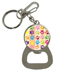 Colorful Animal Paw Prints Background Button Necklaces