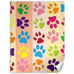 Colorful Animal Paw Prints Background Canvas 36  X 48