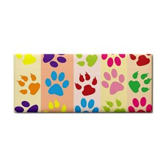 Colorful Animal Paw Prints Background Cosmetic Storage Cases