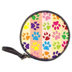 Colorful Animal Paw Prints Background Classic 20 Cd Wallets