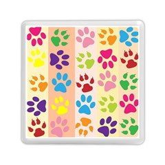 Colorful Animal Paw Prints Background Memory Card Reader (square)