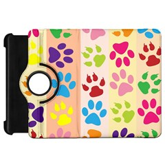 Colorful Animal Paw Prints Background Kindle Fire HD 7