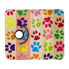 Colorful Animal Paw Prints Background Galaxy S3 (Flip/Folio)