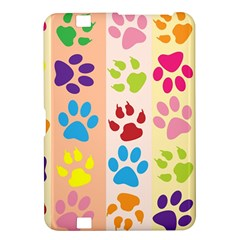 Colorful Animal Paw Prints Background Kindle Fire HD 8.9