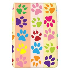 Colorful Animal Paw Prints Background Flap Covers (L)