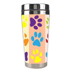 Colorful Animal Paw Prints Background Stainless Steel Travel Tumblers