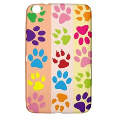Colorful Animal Paw Prints Background Samsung Galaxy Tab 3 (8 ) T3100 Hardshell Case