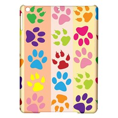 Colorful Animal Paw Prints Background iPad Air Hardshell Cases