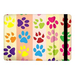 Colorful Animal Paw Prints Background Samsung Galaxy Tab Pro 10 1  Flip Case