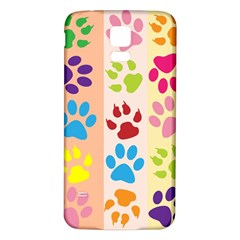 Colorful Animal Paw Prints Background Samsung Galaxy S5 Back Case (white)