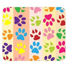 Colorful Animal Paw Prints Background Double Sided Flano Blanket (Small)