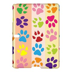 Colorful Animal Paw Prints Background Samsung Galaxy Tab S (10.5 ) Hardshell Case