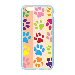 Colorful Animal Paw Prints Background Apple Seamless iPhone 6/6S Case (Color)