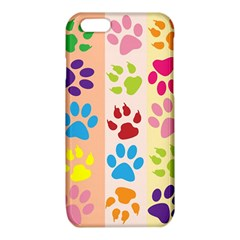Colorful Animal Paw Prints Background iPhone 6/6S TPU Case