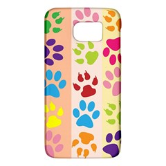 Colorful Animal Paw Prints Background Galaxy S6