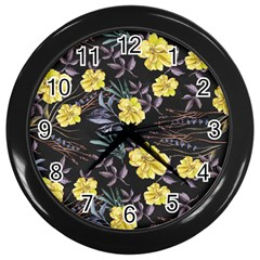 Wildflowers Ii Wall Clocks (black)