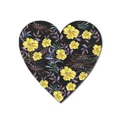 Wildflowers Ii Heart Magnet