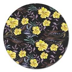Wildflowers Ii Magnet 5  (round)