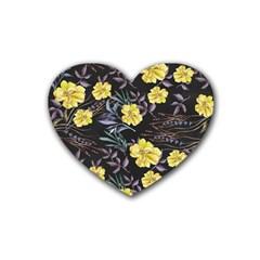 Wildflowers Ii Rubber Coaster (heart)