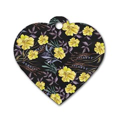 Wildflowers Ii Dog Tag Heart (two Sides)