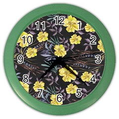 Wildflowers Ii Color Wall Clocks