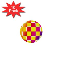Squares Colored Background 1  Mini Buttons (10 pack)