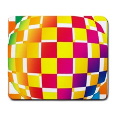 Squares Colored Background Large Mousepads