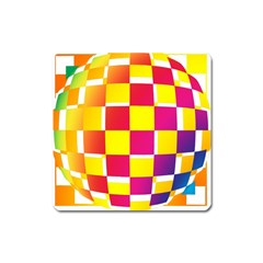 Squares Colored Background Square Magnet