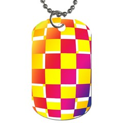 Squares Colored Background Dog Tag (two Sides)