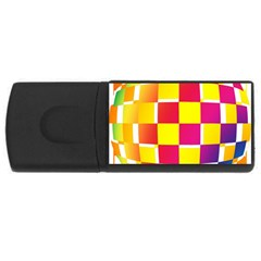 Squares Colored Background USB Flash Drive Rectangular (1 GB)