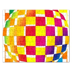 Squares Colored Background Rectangular Jigsaw Puzzl