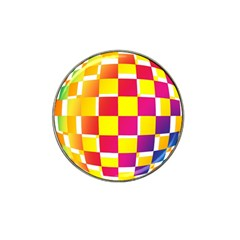 Squares Colored Background Hat Clip Ball Marker (4 Pack)