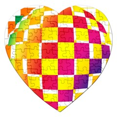 Squares Colored Background Jigsaw Puzzle (Heart)