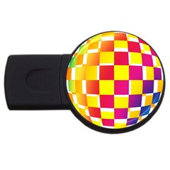 Squares Colored Background USB Flash Drive Round (4 GB)