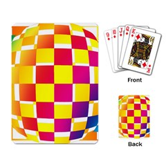 Squares Colored Background Playing Card